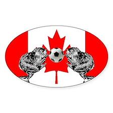 Canadian Beaver Flag Decal