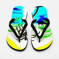 Tropical Colors Flip Flops