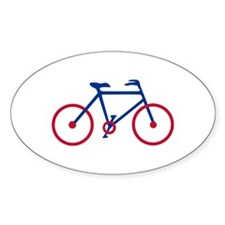 Blue and Red Cycling Decal