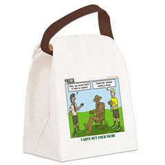Wood Carving Canvas Lunch Bag