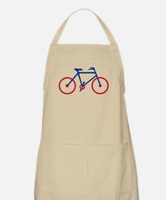 Blue and Red Cycling Apron
