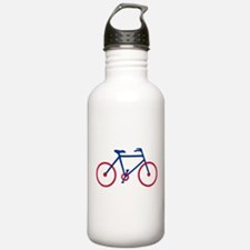 Blue and Red Cycling Water Bottle