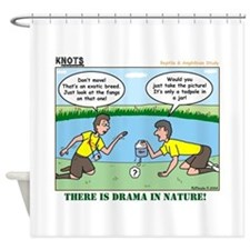 Reptile Study Shower Curtain