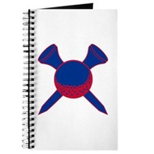 Blue and Red Golf Journal