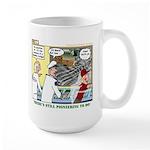 Pioneering in Space Large Mug