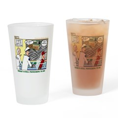 Pioneering in Space Drinking Glass