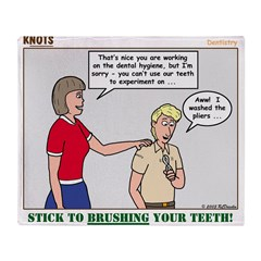 Dentistry Throw Blanket