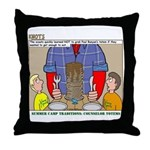 Camp Totems Throw Pillow