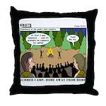 Camp Sick Throw Pillow