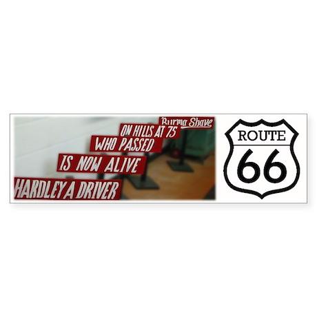 Route 66 - Berma Shave Bumper Sticker