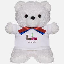 I love animal print Teddy Bear