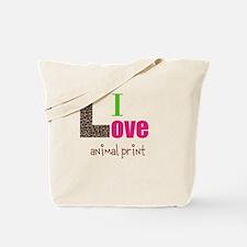 I love animal print Tote Bag