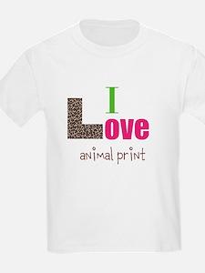 I love animal print T-Shirt