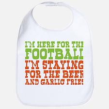 I Love Football and Garlic Fries Bib