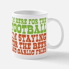 I Love Football and Garlic Fries Mug