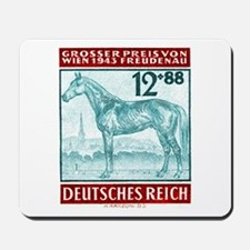 1943 Germany Race Horse Postage Stamp Mousepad