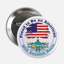 """American-Swedish Roots 2.25"""" Button (10 pack)"""