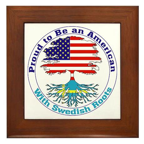 American-Swedish Roots Framed Tile