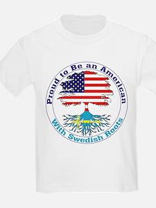 American-Swedish Roots Kids T-Shirt