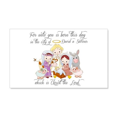 Baby Jesus 20x12 Wall Decal