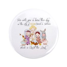 """Baby Jesus 3.5"""" Button"""