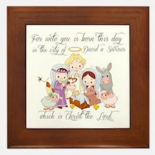 Baby Jesus Framed Tile