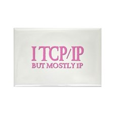 I TCP/IP But Mostly IP Rectangle Magnet