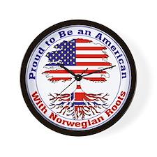 American-Norwegian Roots Wall Clock