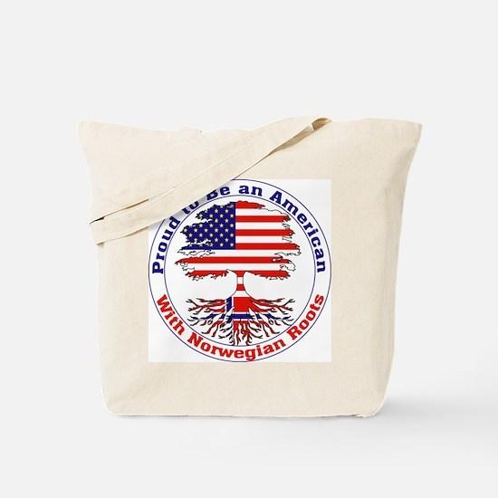 American-Norwegian Roots Tote Bag