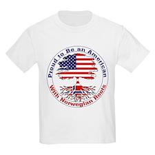 American-Norwegian Roots Kids T-Shirt