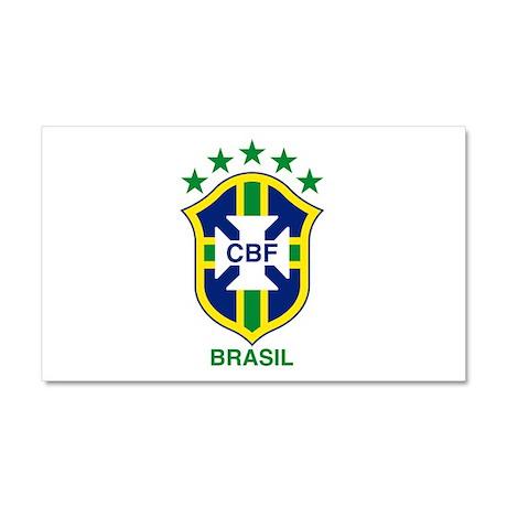brazil soccer logo Car Magnet 20 x 12