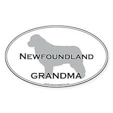 Newfoundland GRANDMA Oval Decal
