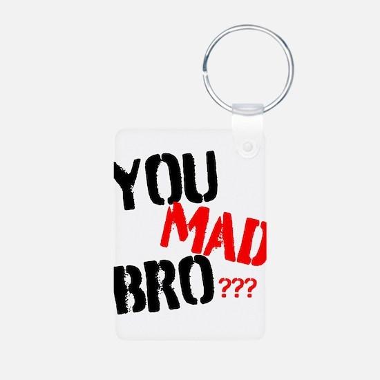 You mad bro Aluminum Photo Keychain