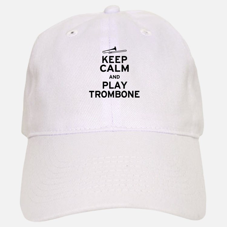 Keep Calm Play Trombone Baseball Baseball Cap