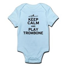 Keep Calm Play Trombone Infant Bodysuit