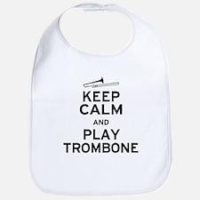 Keep Calm Play Trombone Bib