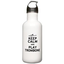 Keep Calm Play Trombone Water Bottle