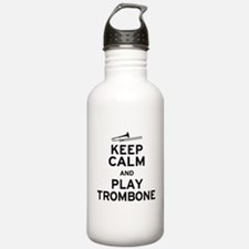 Keep Calm Play Trombone Water Bottle