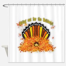 Hiding out Turkey Shower Curtain