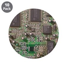 """Circuit Board 3.5"""" Button (10 pack)"""