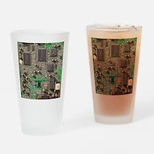 Circuit Board Drinking Glass