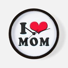I Love Mom Wall Clock