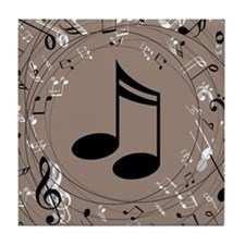 Music Gift For Teacher or Musician Tile Coaster