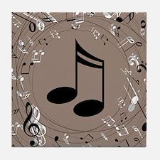 Music Gift For Teacher or Musician Tile Coaster