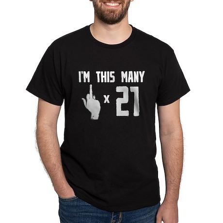 21st Birthday, Funny, Dark T-Shirt