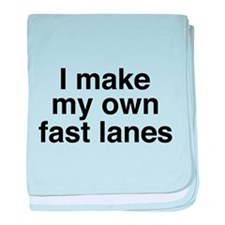 I make my own fast lanes baby blanket