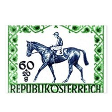 1947 Austria Racehorse with Jockey Postage Stamp P
