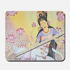 Meditative Sarasvati music Mousepad