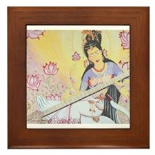 Meditative Sarasvati music Framed Tile