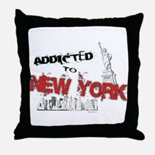 Addicted to New York Throw Pillow